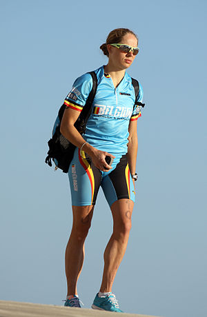 Katrien Verstuyft - Katrien Verstuyft after the race in Quarteira, 2011.