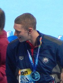 Kazan 2015 - USA wins silver mixed medley relay Ryan Murphy (cropped).JPG
