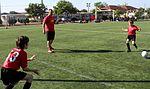 Keeping the ball in their court, Marine coaches teach kids sports, values 121103-M-OB827-050.jpg