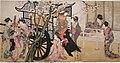 Kitagawa Utamaro. Court woman admiring cherry blossoms.jpg
