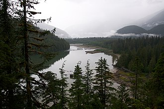 Rainforest - A view of Kitlope Lake in the Kitlope Heritage Conservancy.