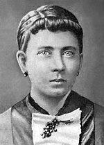 Photographie noir et blanc du visage de la mère d'Adolf Hitler: Klara Pölz.