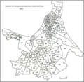 Kolkata Municipal Corporation ward level map as of 2011 Census.png