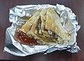 Korean quesadilla with gojuchang sauce.jpg