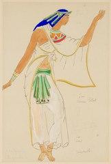 Kostymskiss av Isaac Grünewald - Iras i Antonius och Kleopatra