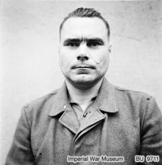 Josef Kramer - Josef Kramer, in Celle awaiting trial, August 1945.
