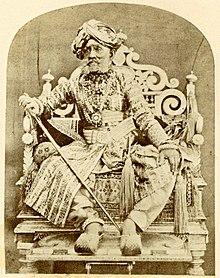 Krishnaraja Wadiyar III, Maharaja of Mysore.jpg
