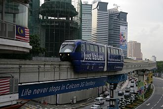 Scomi Rail - KL Monorail, Scomi Rail's first ever project pictured with old trainsets