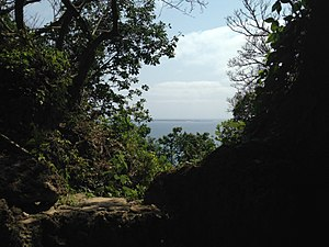 Sefa-utaki - View of Kudaka Island from Sefa-utaki