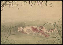 Kusozu; the death of a noble lady and the decay of her body. Wellcome L0070294.jpg