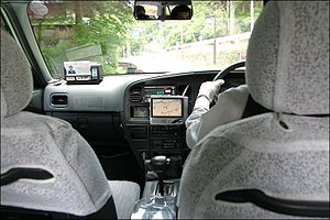 GPS navigation device - A taxi equipped with GPS