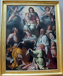 Jacopo da Empoli: The Virgin Appearing to Saint Luke and Saint Yves