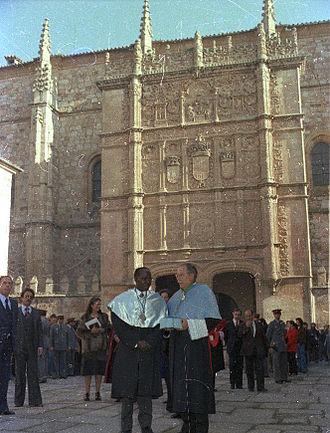 Léopold Sédar Senghor - Léopold Sédar Senghor received a degree honoris causa from the University of Salamanca