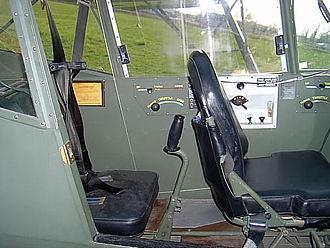 Taylorcraft L-2 - Interior of Taylorcraft L-2M N52347