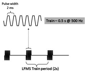 Low field magnetic stimulation - Image: LFMS waveform graphic