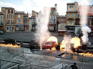 <i>Moteurs... Action! Stunt Show Spectacular</i> car stunt show at Walt Disney Studios at Disneyland Paris, formerly at Disneys Hollywood Studios at Walt Disney World