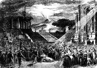 La muette de Portici - La Muette de Portici, the eruption of the volcano, 1893 production