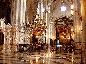 Interior de la Catedral de La Seo (Zaragoza, S...