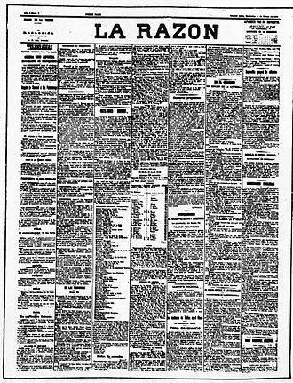 La Razón (Buenos Aires) - First edition, March 1, 1905.