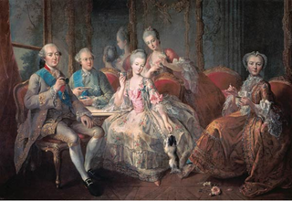 The family of the Duke of Penthièvre called la tasse de chocolat