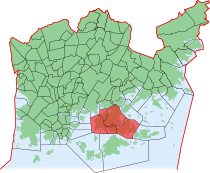 Position of Laajasalo within Helsinki
