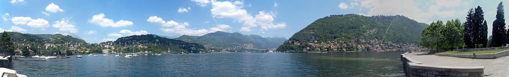 Lake Como seen from the city of Como.
