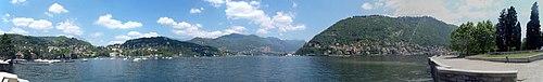 Panorama del lago di Como.