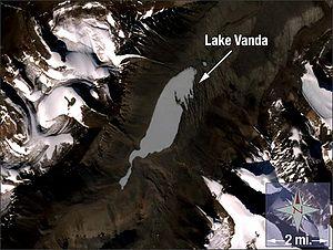 Lake Vanda - Landsat 7 image