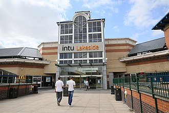 Lakeside Shopping Centre - Image: Lakeside Shopping Centre 2013 by Highways Agency