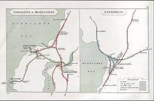 """Little"" North Western Railway - Railways around Lancaster and Morecambe in 1913"