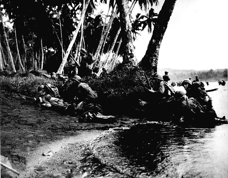 Landing operations on Rendova Island