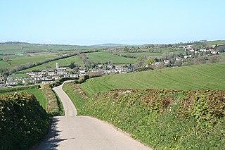 Goodleigh village in United Kingdom
