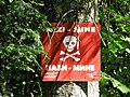 Landmine warning sign in BiH.jpg