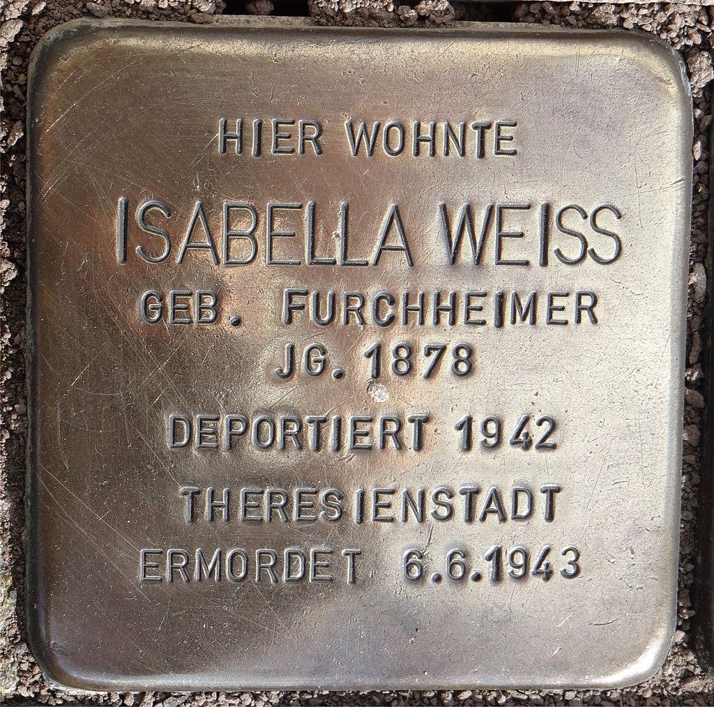 Langenlonsheim Stolperstein Schulstraße 12 Isabella Weiss.jpg