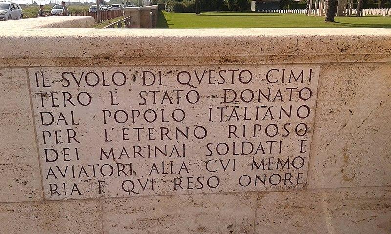 File:Lapide posta all'ingresso del Cimitero di Salerno.jpg