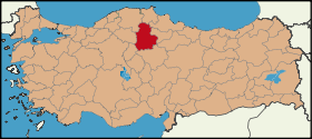 Latrans-Turkey location Çorum.svg
