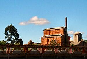 Gasworks - Retort house at the Launceston Gasworks, Launceston, Tasmania.