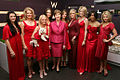 Laura Bush, Kristin Chenoweth, and models.jpg