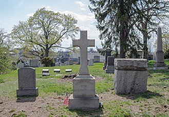 Laura Keene - Burial site at Green-Wood Cemetery in Brooklyn, New York.
