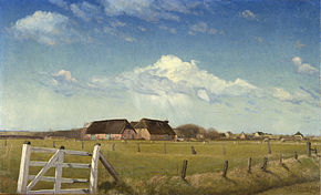 Laurits Andersen Ring - Fenced-in Pastures by a Farm with a Stork's Nest on the Roof, DK1.11-B410.jpg