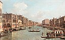 Le grand canal – Looking South-East from the Campo Santa Sophia to the Rialto Bridge