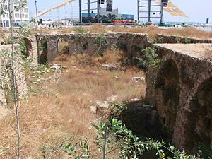 Phoenicianism - Phoenician sites in the Central District of Beirut.