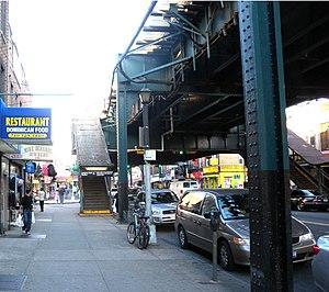 Ozone Park–Lefferts Boulevard (IND Fulton Street Line) - Northwestern street stair