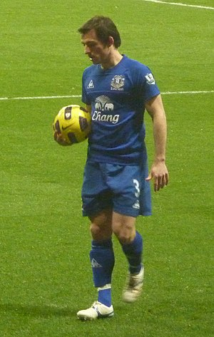 Leighton Baines - Baines playing for Everton in 2011
