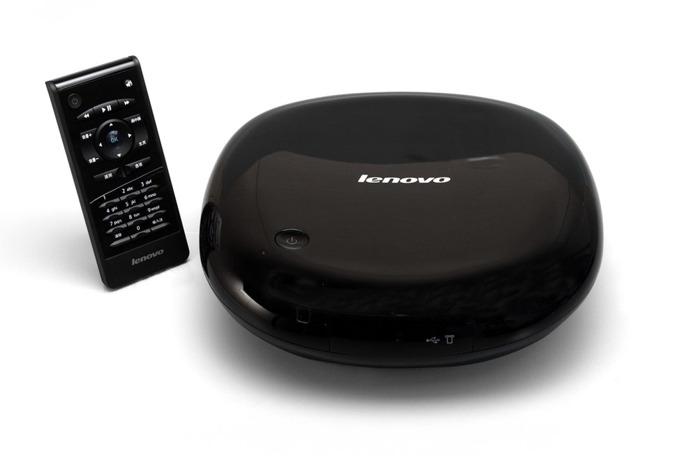 Lenovo A30 Internet TV Set Top Box - Front with Remote (6639767915)