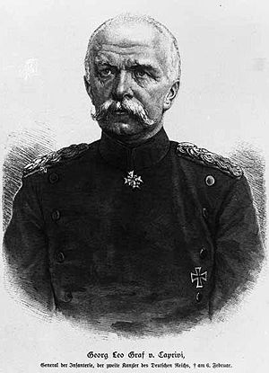 Caprivi Strip - German chancellor Leo von Caprivi de Caprera de Montecuccoli, who gave his name to the Caprivi Strip