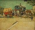 Les roulottes, campement de Bohémiens aux environs d'Arles, 1888 (16844566640).jpg