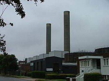 English: Letchworth power station. No longer o...