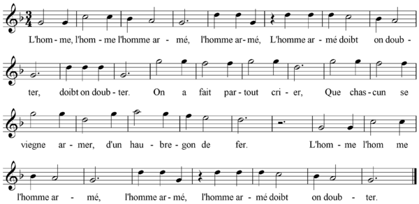 "The tune ""L'homme armé"""