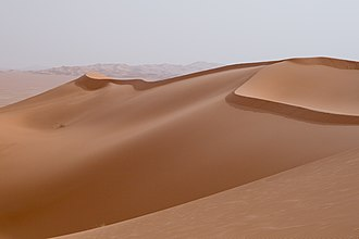 Sand - Sand dunes in the Idehan Ubari, Libya.
